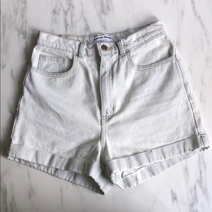 High waisted. American apparel jean shorts